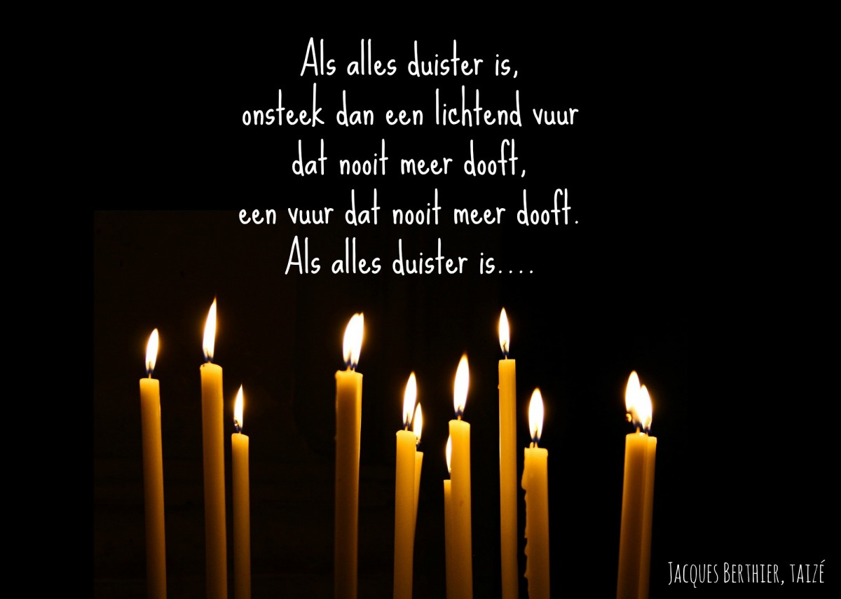 Als alles duister is.